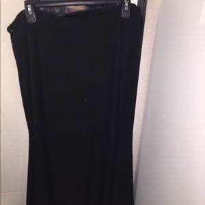 lane bryant long black skirt